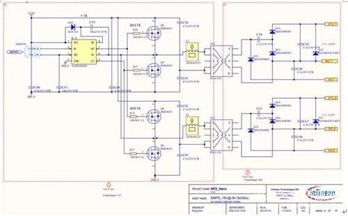 半桥开关电源电路原理图