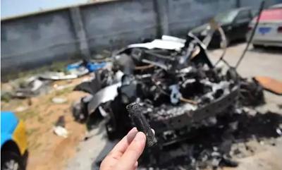 特斯拉国内再度起火 电池被烧焦