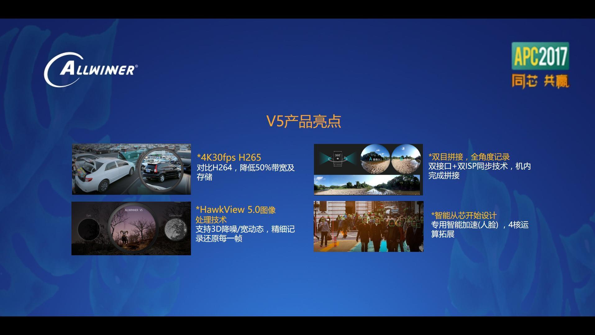 全志正式发布V5系列新一代编码处理器 迈向双目智能影像市场