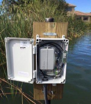 物联网智能阀门传感器远程监控湖面水位