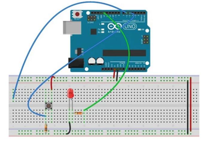 arduino触发电路连线图.需要注意加入 切换开关