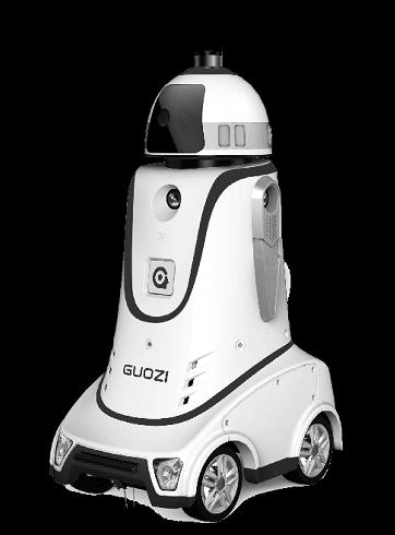 个子略矮体重略胖但很灵敏 一个机器人抵得上三个保安