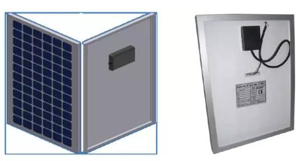 图1 晶硅光伏组件的外形图 光伏组件内部电池片的等效模型如图2所示,其中Rs为组件串联阻抗、Rsh为组件自身阻抗。光伏电池本质上是一个电流源,只是这个电源流被二极管限定电压至0.5~0.7V。由于晶硅组件内部由多个电池片串联而成,因此组件输出电压大约为30~42V。
