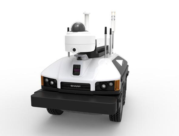 夏普在美发售车型机器人 24小时提供360度监控