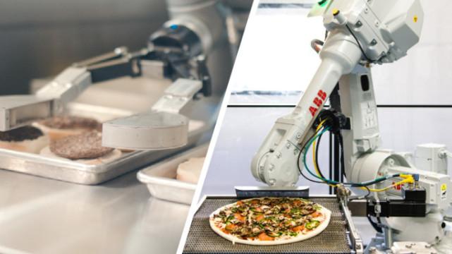 机器人能自动烹制汉堡和披萨 看来有人要失业了