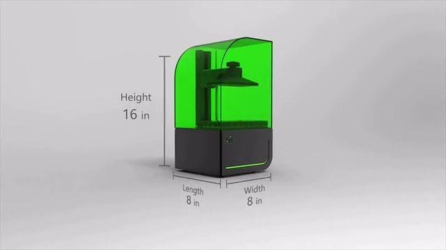 Bean 3D光固化3D打印机 打印精度可达10微米
