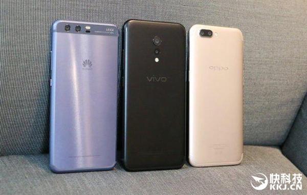 2017年Q2中国智能手机销量排名:华为OV小米仍遥遥领先