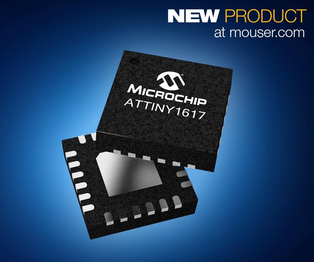 Microchip ATtiny1617系列AVR MCU在贸泽开售
