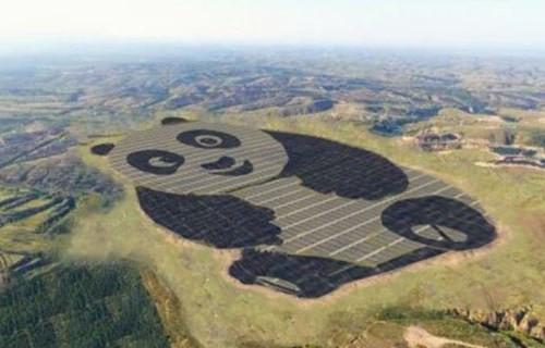 中国计划修建100座熊猫形的太阳能发电厂