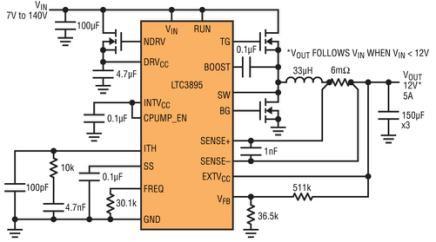 高压IC可取代汽车浪涌抑制器件