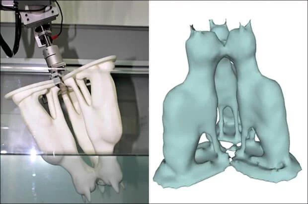 3D打印怪事:科学家们用水和机器人来创建3D扫描技术