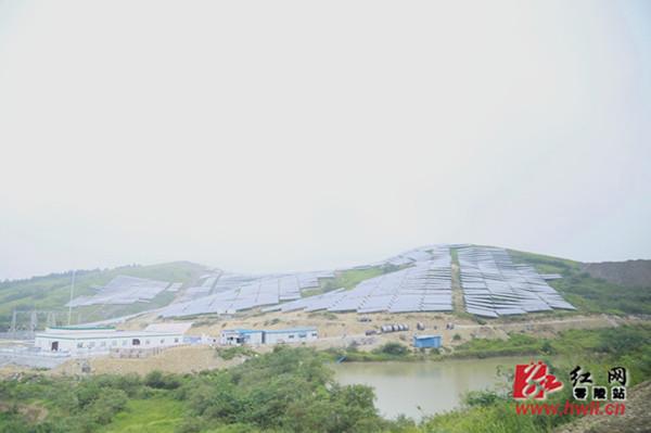 湖南省最大的单体地面光伏电站在零陵并网发电