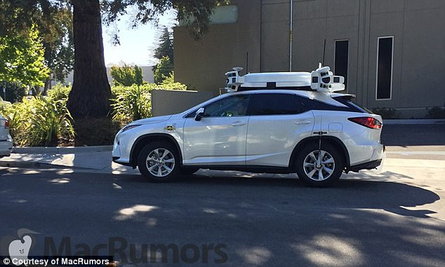 苹果无人驾驶测试车升级 头顶雷达传感器吸睛