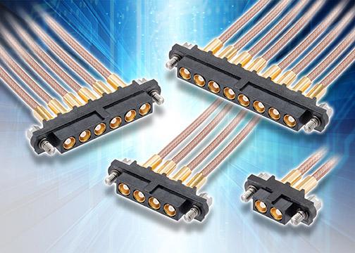 Harwin公司推出坚固型50Ω多端口同轴连接器和预组装电缆