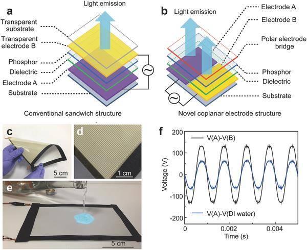 Adv. Mater.: 沾上水能发光的二维柔性显示器,给你无限遐想