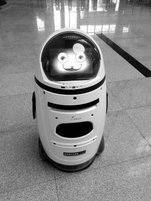 成都高校图书馆首台机器人上岗