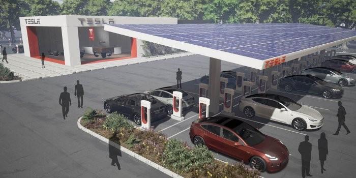 特斯拉新型超級充電站構想:增設餐飲休息區