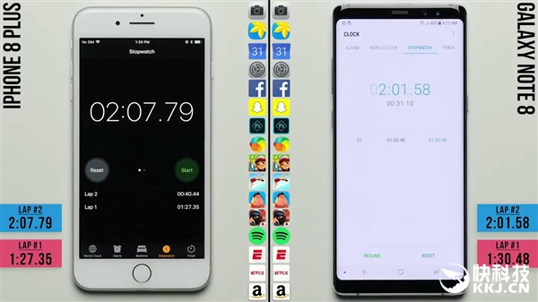 iPhone 8Plus运行速度对比三星Note8:被打败
