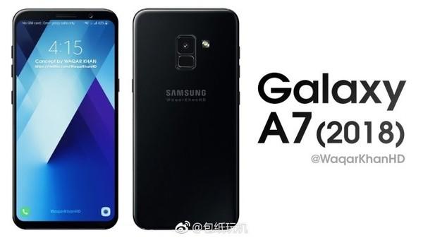 三星Galaxy A7中端全面屏将至