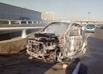 天津买来七个月的电动车行驶途中起火