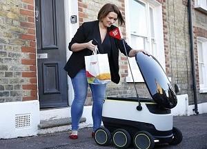 美公司发明快递机器人送货上门