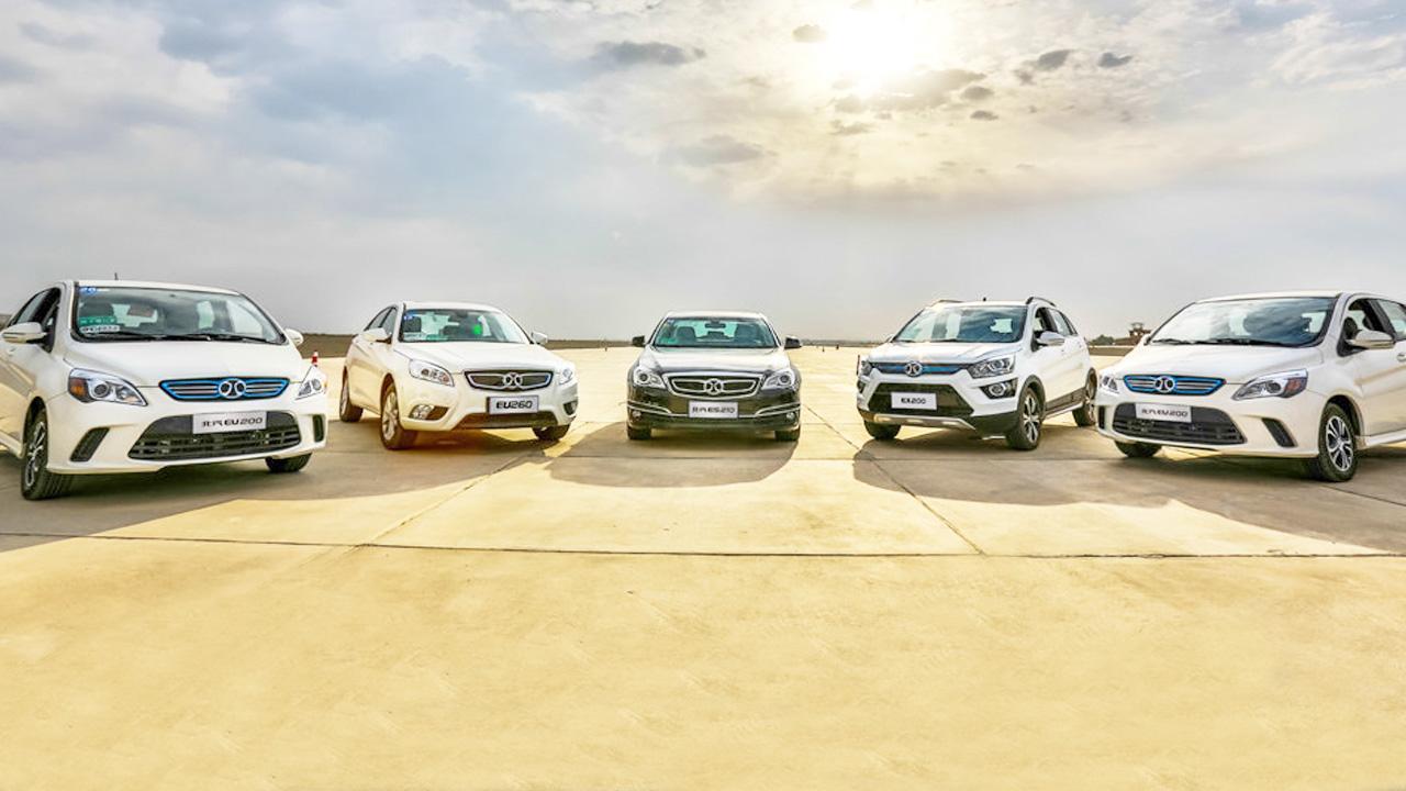 中国新能源汽车销量5年增41倍