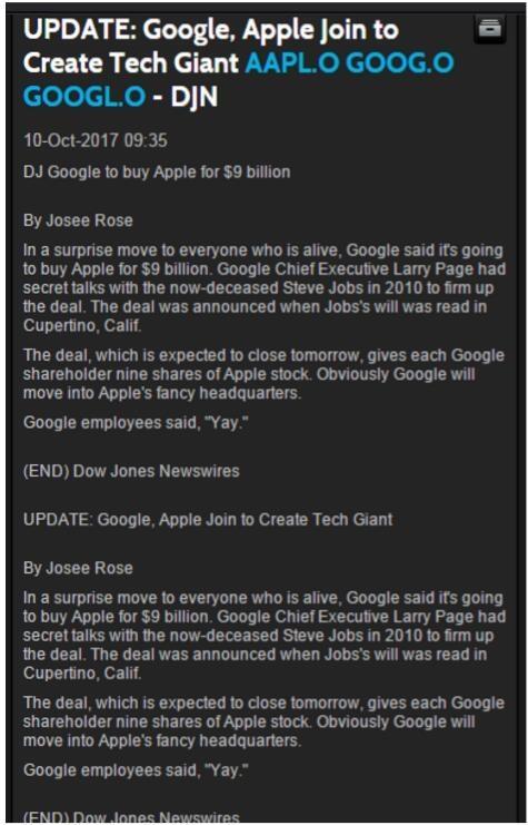 谷歌竟宣布收购苹果?美权威媒体闹出大乌龙