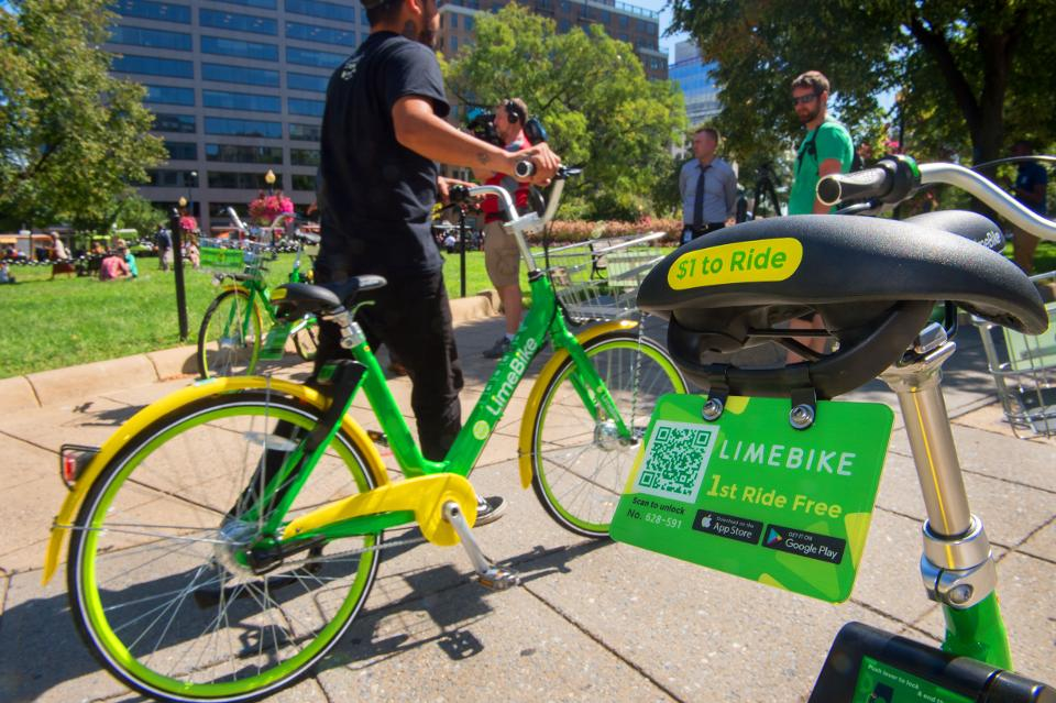 硅谷共享单车LimeBike计划追赶中国的ofo和摩拜