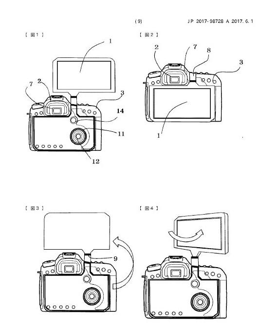"""单反也能""""全面屏""""?佳能公布超大翻转背部屏幕专利"""