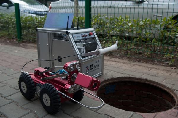 中仪管道机器人 参与农村污水治理工程