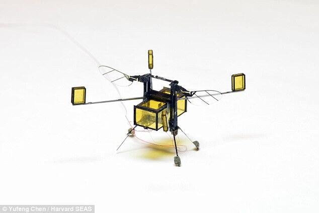 哈佛研发微型超轻机器人 可上天下海