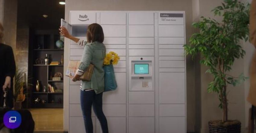 亚马逊或配合Amazon Key安装小区储物柜