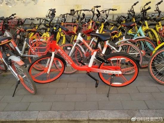 摩拜新单车惊现北京街头 网友拍照发微博