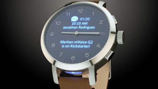Martian Watches智能手表推出mVoice G2混合智能腕表