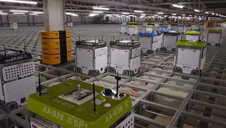 英国最大生鲜电商Ocado的仓库机器人长啥样