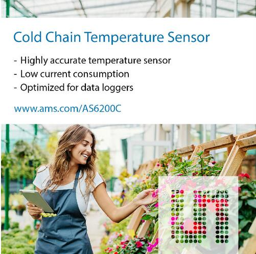 ams新型高精度数字温度传感器可满足严苛的误差预算目标