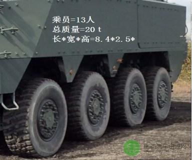 基于純電驅動的蜈蚣輪增程式8輪驅動裝甲運輸車問世