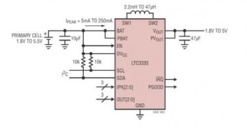 其他特点包括引脚可编程输出电压和降压-升压峰值电流限制,一个超级电