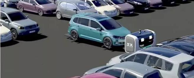 法国停车机器人有点萌