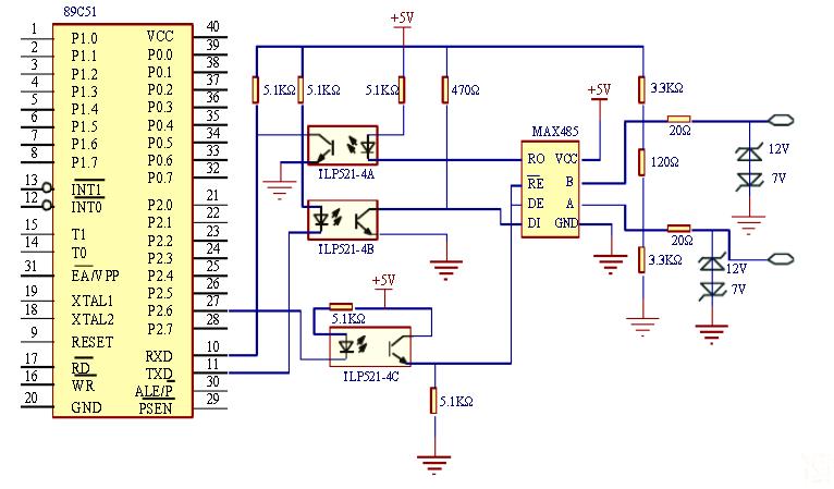 恒德室内智能照明控制系统电路设计