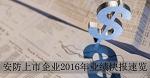 2016年安防上市企业业绩快报速览