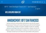 不再依赖PC 英特尔宣布取消IDF开发者大会