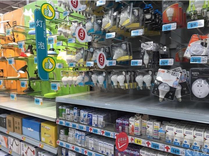 """节能灯管""""下架""""_超市货架成LED灯的""""天下"""