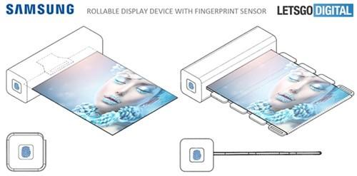 三星新专利:通过指纹激活可卷曲显示屏