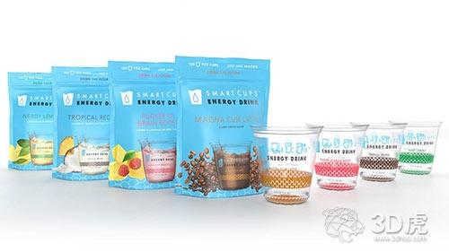 Smart Cups推出将水转换为无糖能量饮料的3D打印智能杯