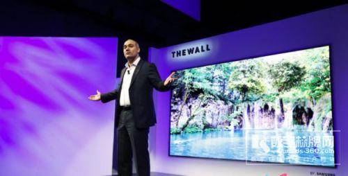 三星发布全球首款146寸Micro LED拼接墙