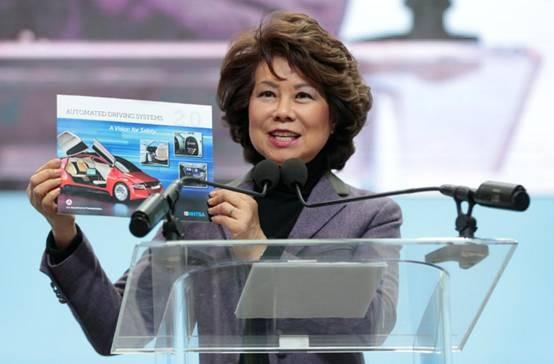 美国交通部欲修订指导方针 为自动驾驶汽车扫清障碍