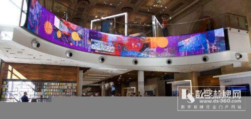 AT&T旗舰店尝试用全景屏吸引客户