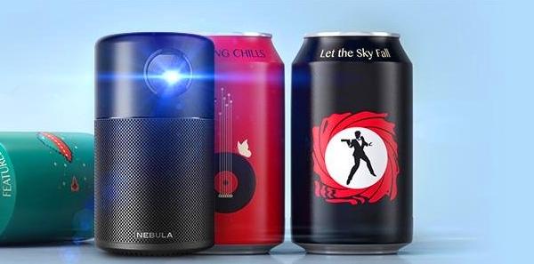 ANKER推出安卓便携式投影仪:机身仅有可乐罐大
