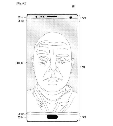 iPhone X靠边!三星密谋最强全面屏手机:专利外形惊艳